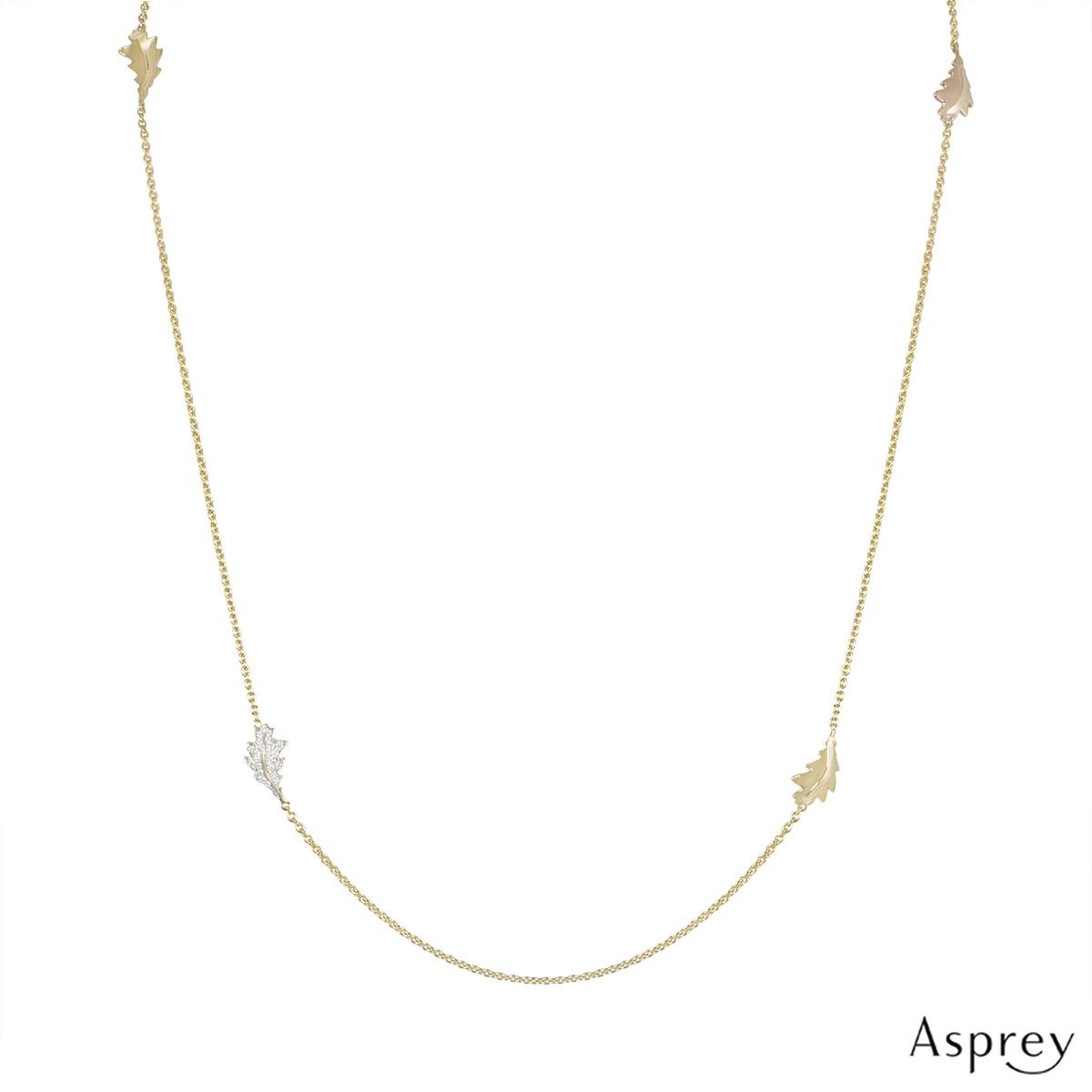 Asprey Tri-Colour Diamond Necklace